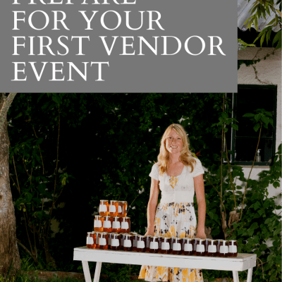 How to prepare for your first vendor event