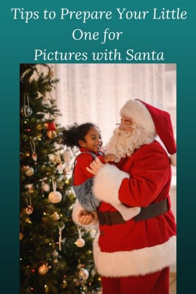 photo of Santa and little girl