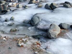 Bevroren rivier Zermatt