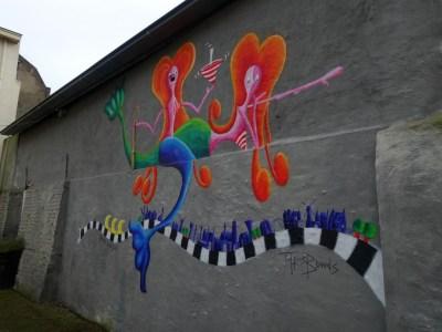 Streetart Zaltbommel muur