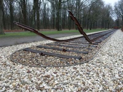 Rails voormalig kamp westerbork