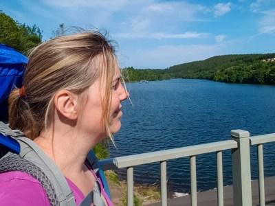 Genieten van het uitzicht over de Krönenburger See
