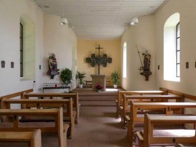 Interieur van het kappelletje bij Prüm
