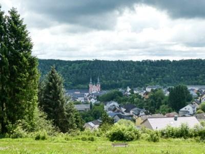 Uitzicht op de kerk van Prüm