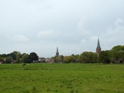 Zicht op de kerktorens van Abcoude