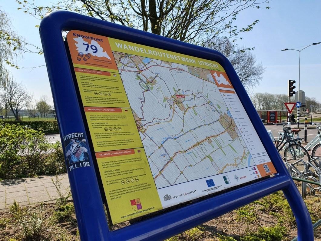 Wandelroutenetwerk Utrecht informatiebord