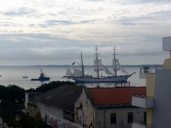 Tall ship leaving town 15Out2016