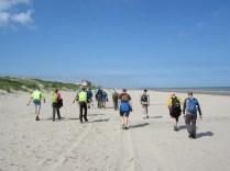 het strand van Frankrijk met name Bray-Dunes betreden