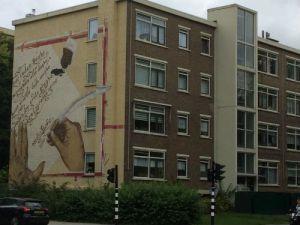 Flat met muurschildering Melis Stoke