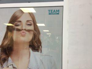 Vrouw met snor