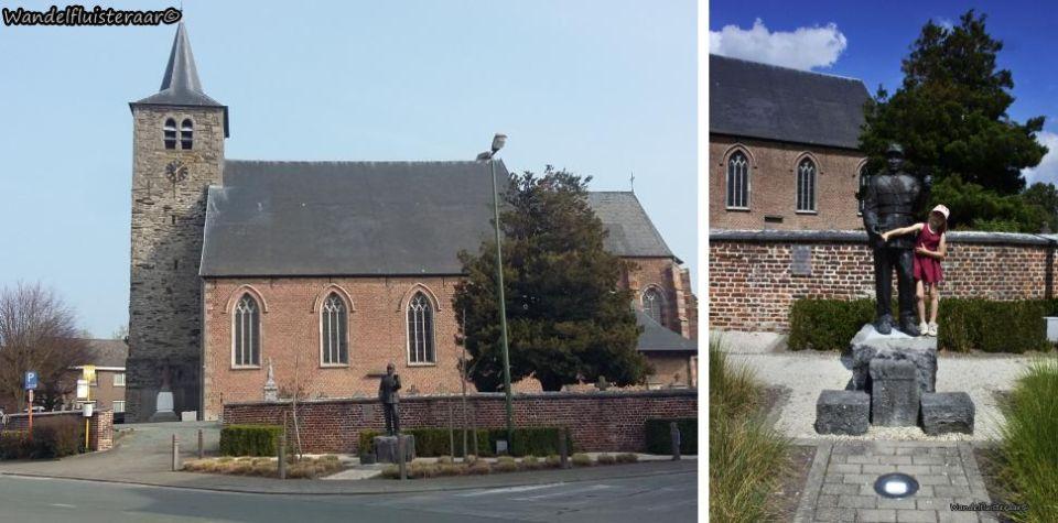 Sint Pieters kerk en champetter Ferbiest in Sint-Pieters-Kapelle