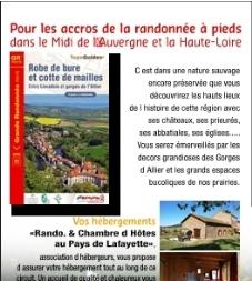"""9 dagen wandelen in de Auvergne (individuele rondreis 163km) GR® pays """"Robe de Bure et Cotte de Mailles"""""""