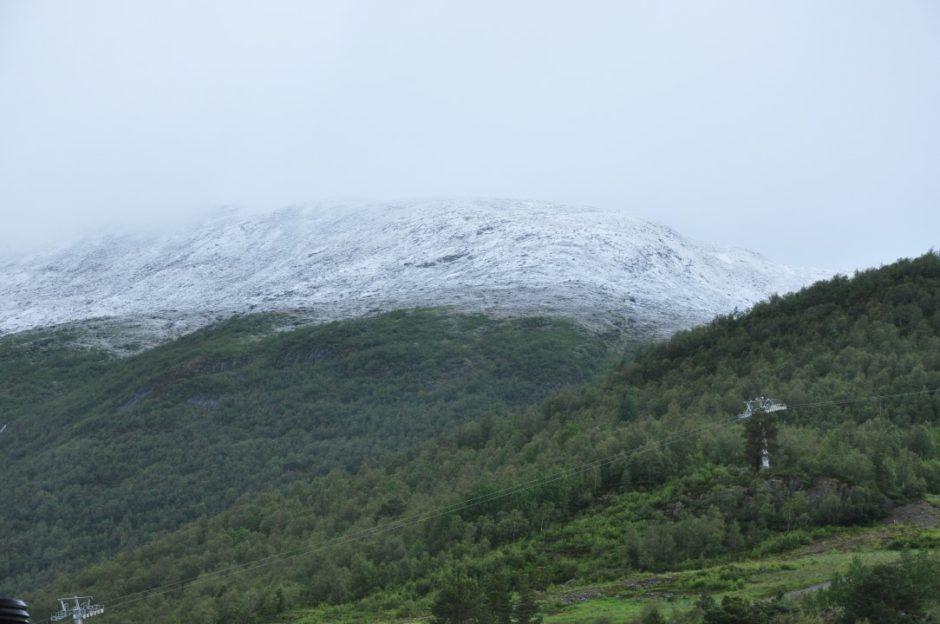 Noorwegen 2 juli 2019 verse sneeuw