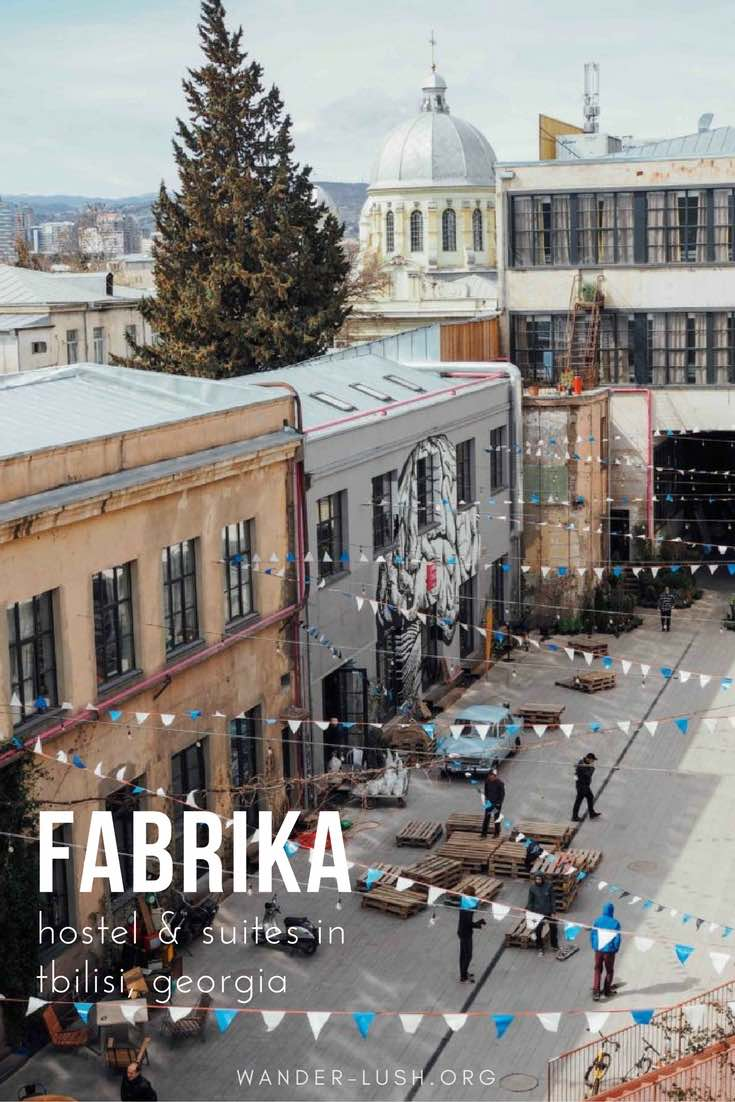 Hotel, bar, breakfast hotspot, shopping mecca, co-working space, creative hub—Fabrika wears many hats. Here's a look inside the best hostel in Tbilisi, Georgia.