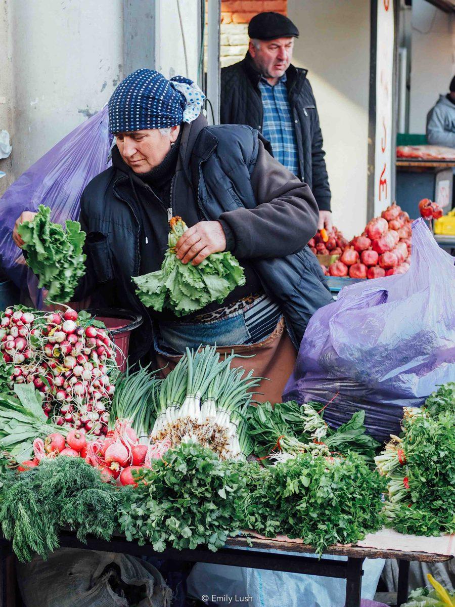 © Emily Lush 2017 | Tbilisi market; food market Tbilisi; dezerter bazaar Tbilisi location