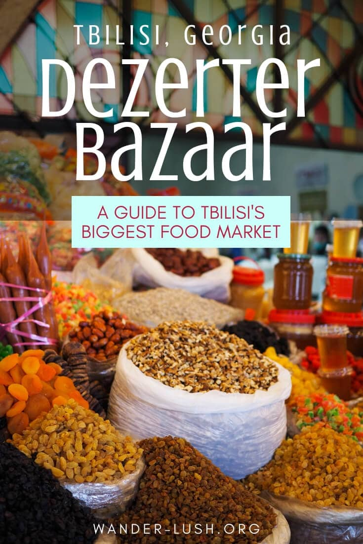Visiting #Tbilisi in #Georgia? Don't miss the Dezerter Bazaar. The biggest Tbilisi #market is a wonderland of fresh produce, pickles, cheese, and other Georgian delicacies!