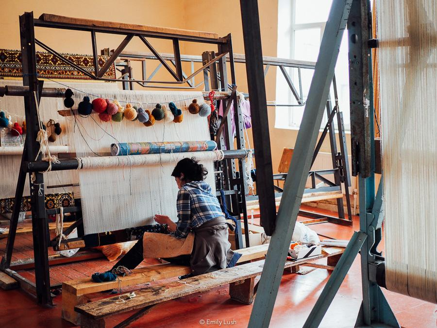 Interested in the history and culture of Azerbaijan carpet weaving? Here's how to visit the Qadim Quba carpet-making workshop as a day trip from Baku.
