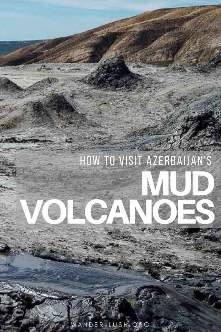 How to visit Qobustan's mud volcanoes as a day trip from Baku, Azerbaijan.