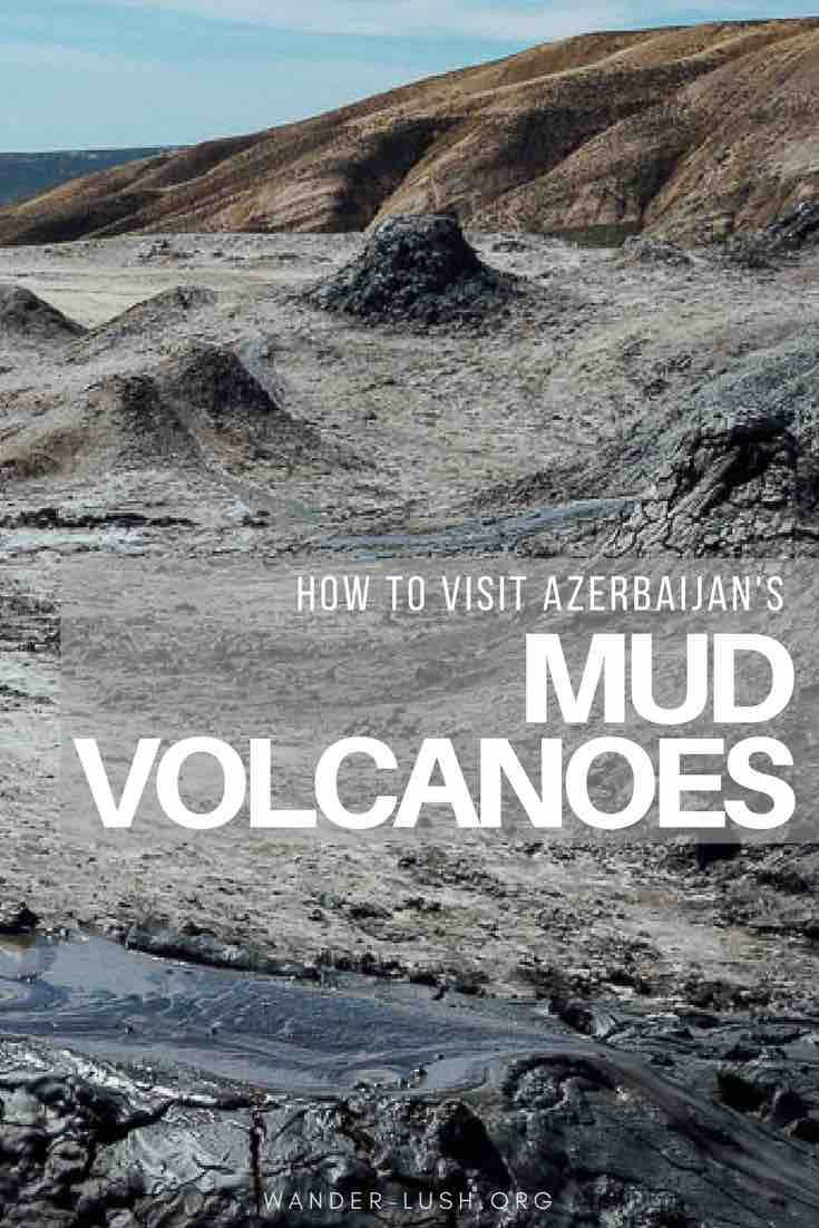 How to visit Qobustan's mud volcanoes as a day trip from Baku, Azerbaijan.