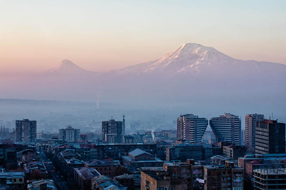 First glimpses of Yerevan and Mount Ararat. Photo credit: Artak Petrosyan / Unsplash (used under Creative Commons).