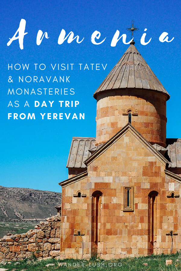 Are you looking for a cheap, easy way to get to Tatev Monastery Armenia from Yerevan? Here's how you can visit the famous monastery, ride the Wings of Tatev and see other highlights of Central Armenia – all for under 40 USD per person. Best of all, you'll be back in Yerevan in time for a late dinner!