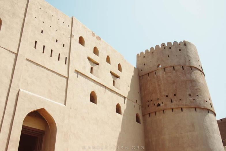 A beautiful sand-coloured fortress in Oman.