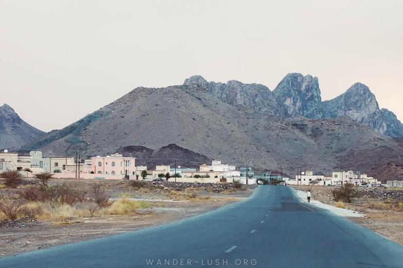 On the road in Oman. Photo credit: Copyright Emily Lush | Oman road trip