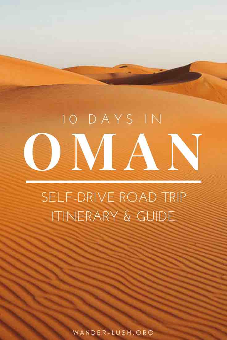 Oman is one of the best places in the Middle East (or anywhere in the world) for a road trip. This 10 day self-drive road trip is the perfect way to see Oman's highlights. Includes distances and drive times, must-sees, and a map route planner.