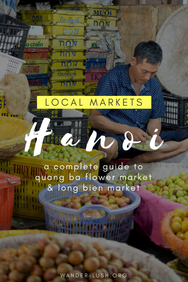 Everything you need to know about visiting Quang Ba Flower Market and Long Bien Market—two of Hanoi's coolest, most authentic attractions!