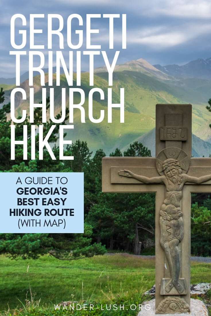 Republic of Georgia in the Caucasus offers some incredible mountain trekking. This guide to the popular Kazbegi to Gergeti Trinity Church route includes essential tips, route planning advice, and a map.