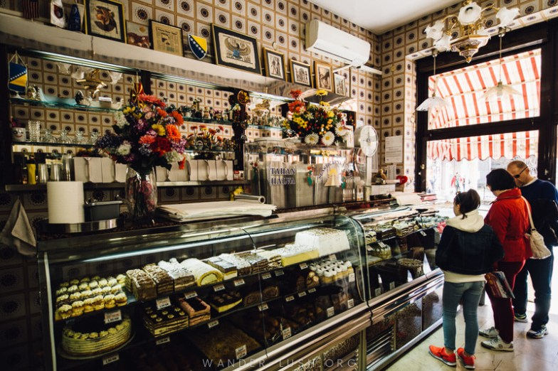 A pastry shop in Sarajevo | A Sarajevo food tour gives a perfect introduction to the city's culture and history. Here's what to expect from a food tour with local company, Balkantina.