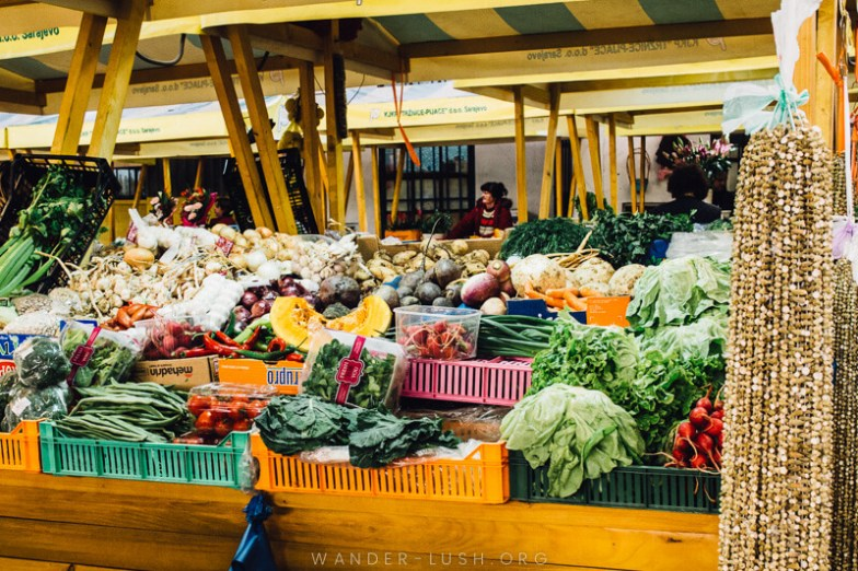 Sarajevo's biggest green market and sight of the deadly 'markale massacres' in 1994 and 1995 | A Sarajevo food tour gives a perfect introduction to the city's culture and history. Here's what to expect from a food tour with local company, Balkantina.