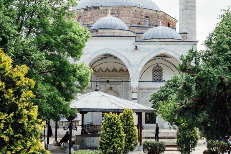 Exterior of Mustafa Pasha's Mosque.