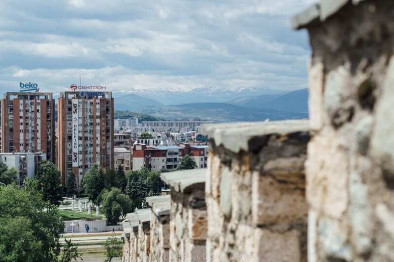 City view from the top of Skopje Fortress.