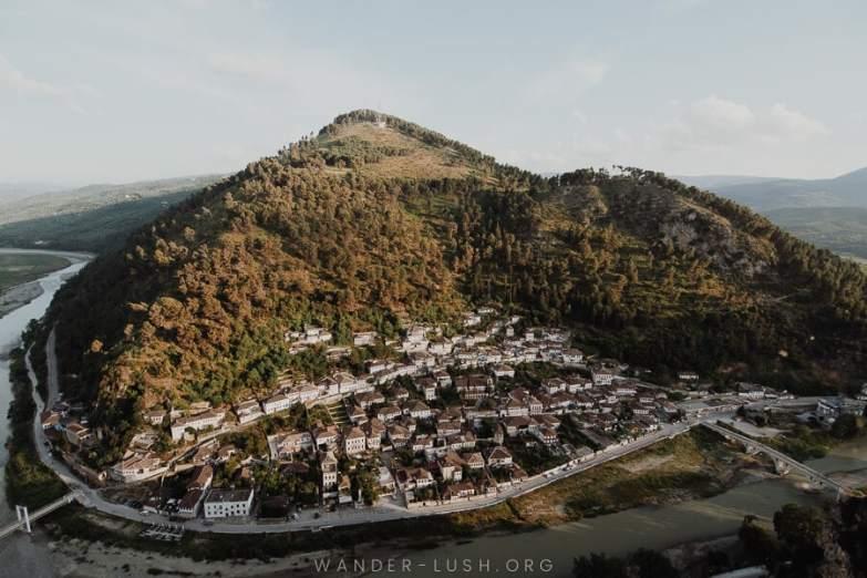View of Berat, Albania.