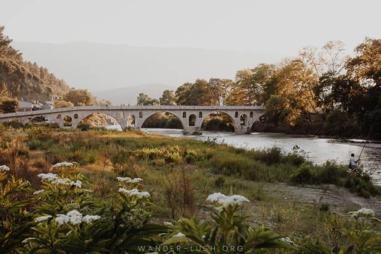 A stone bridge.