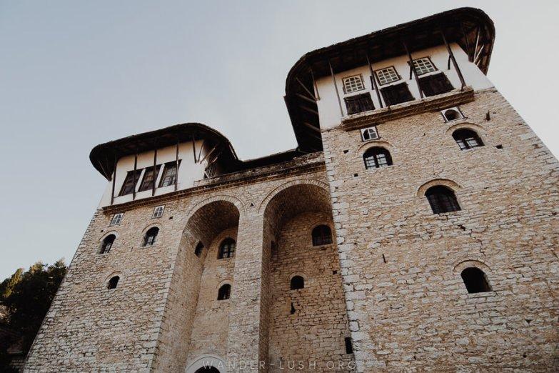 A fortified Ottoman house in Gjirokaster.