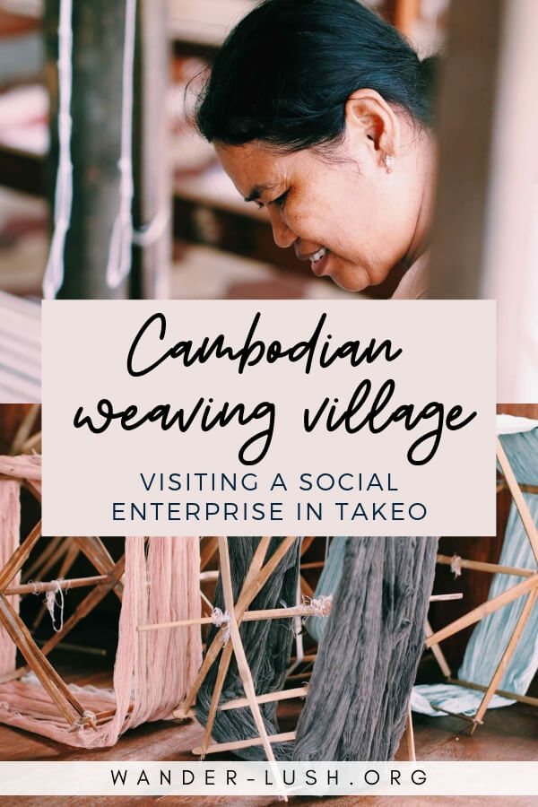 Visiting Cambodian Weaving Village and the Meas Family Homestay in Takeo, a fantastic social enterprise halfway between Phnom Penh and Kampot, Cambodia.