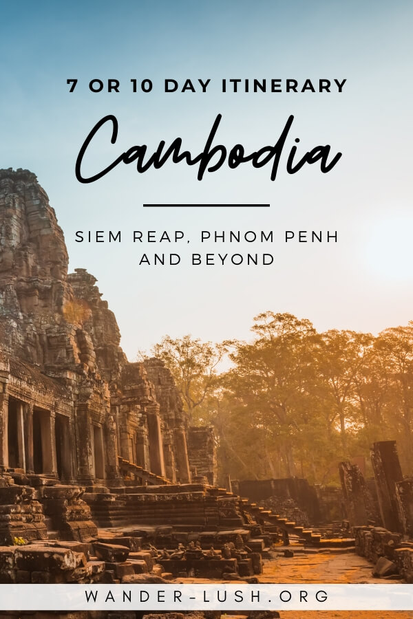 If you only have 7 or 10 days in Cambodia, this Phnom Penh to Siem Reap itinerary includes Angkor, the capital, and 3 optional small towns.