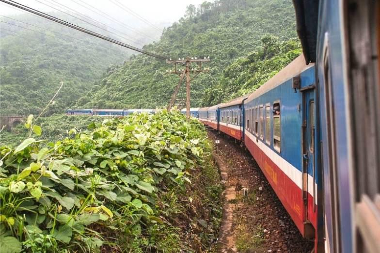 A train in Vietnam.
