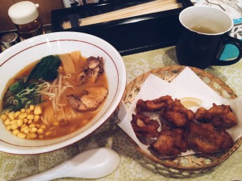 Miso ramen & chicken karage