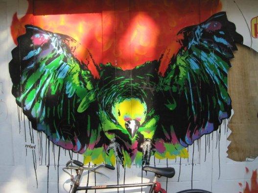 Amsterdam bird street art