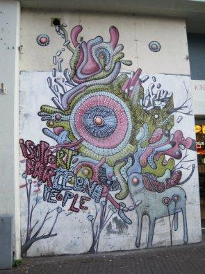 Amsterdam sidewalk artwork