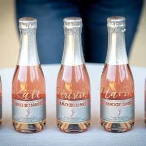 Personalized champagne LA calligrapher