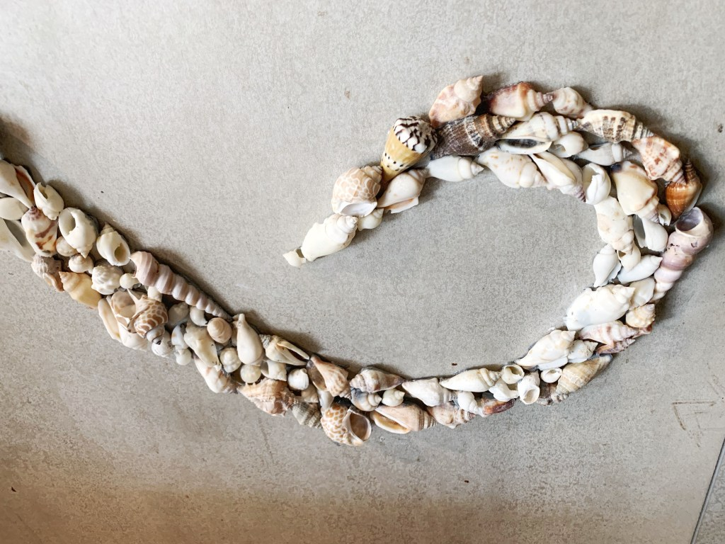 How to build a beautiful large seashell mural, hand designed and crafted by Wander Crafter