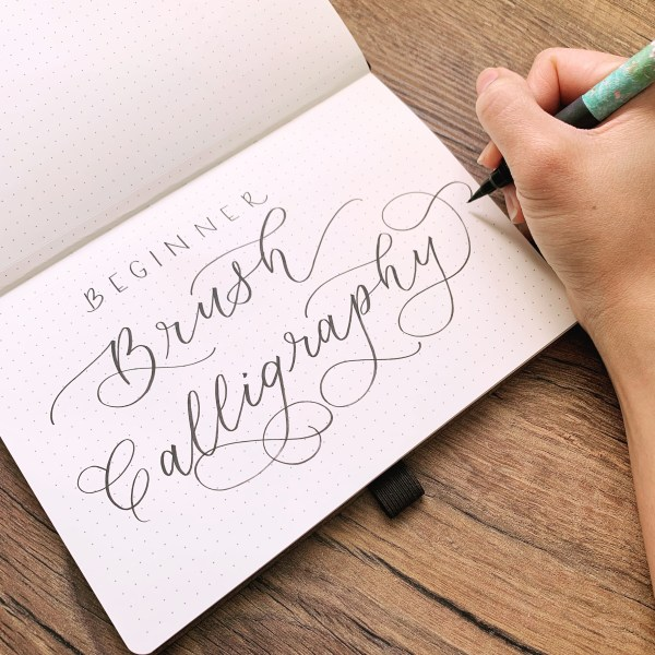 An easy downloadable guide that breaks down calligraphy so that you can learn hand lettering in bite sized pieces!