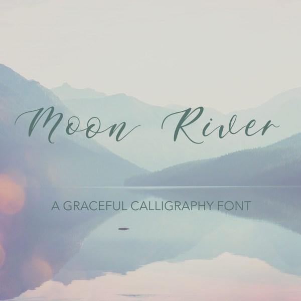 Moon River Graceful Romantic Script Font