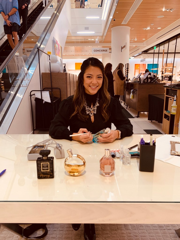 Rosie Chhun Luxury Los Angeles Live Calligrapher and engraver, Jo Malone at Nordstrom
