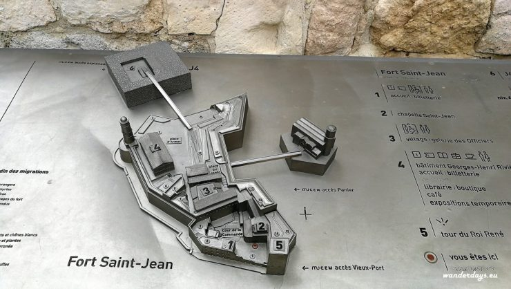 Mapka Fort saint Jean