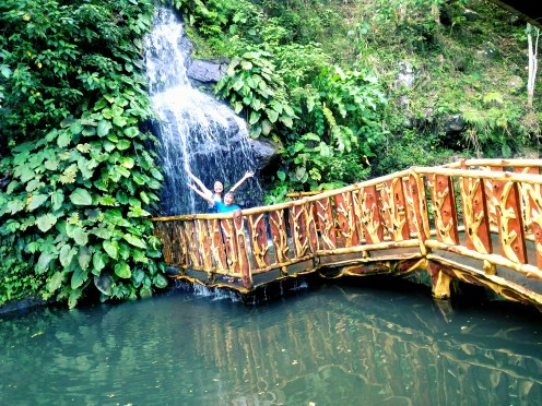 Waterfall, Fish pond and ♥